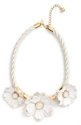 Kate Spade Women's New York Bright Blossom Necklace White