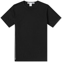 Comme Des Garcons Shirt Side Zip Tee Black