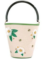 Charlotte Olympia Picnic Bucket Tote Nude Neutrals