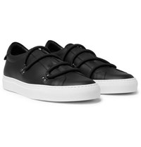 Givenchy Urban Leather Slip On Sneakers Black