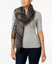 Inc International Concepts Textured Yarn Boucle Shine Wrap Only At Macy's Black