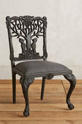 Anthropologie Handcarved Menagerie Woodpecker Dining Chair Black