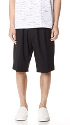 3.1 Phillip Lim Tapered Shorts With Knit Waistband Black