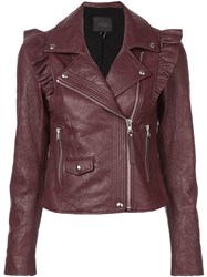 Paige Ruched Detail Jacket Red