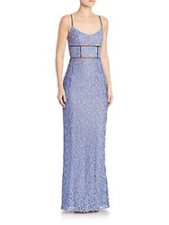 Abs By Allen Schwartz Sleeveless Lace Gown Periwinkle