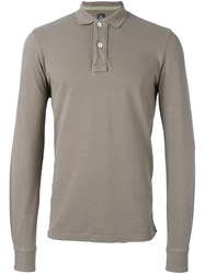 Eleventy Longsleeved Polo Shirt Nude And Neutrals