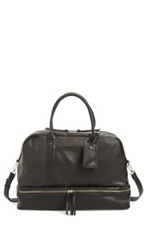 Sole Society 'Mason' Faux Leather Weekend Bag Black Pebbled Black