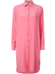 Ermanno Scervino Loose Fit Shirt Dress Pink And Purple