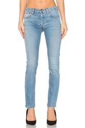 Re Done Straight Skinny Jeans Light Wash