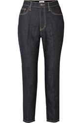 Current Elliott The Vintage Cropped High Rise Slim Leg Jeans Dark Denim