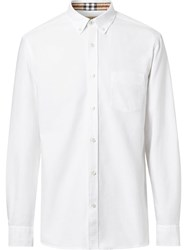 Burberry Button Down Collar Oxford Shirt White
