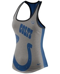 Nike Women's Indianapolis Colts Touchdown Tank Gray Blue