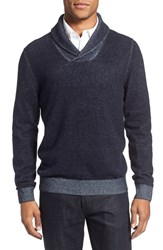Nordstrom Men's Men's Shop Plaited Shawl Collar Sweater Navy Peacoat Combo