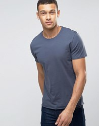 Selected Homme Raw Edge Tee Ombre Blue