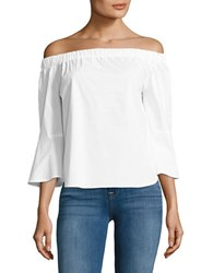 Lord And Taylor Petite Petite Lily Off The Shoulder Shirt White