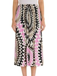 Emilio Pucci Long Jersey Skirt Pink Beige