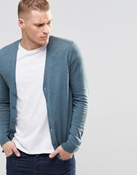 Asos Cardigan In Teal Green Cotton Teal