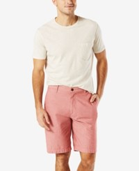 Dockers Men's Classic Fit Stretch Perfect Short Light Red