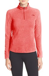 The North Face Women's 'Glacier' Quarter Zip Pullover Spiced Coral