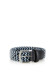 Andersons Woven Elasticated Belt Light Blue