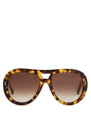 Stella Mccartney Aviator Frame Acetate Sunglasses Tortoiseshell