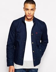Jack Wills Ilchester Quilted Bomber Jacket Navy