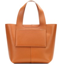 Victoria Beckham Apron Leather Tote Brown