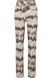 Isabel Marant Dominic Tie Dyed High Rise Straight Leg Jeans Army Green