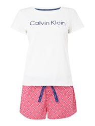 Calvin Klein Pyjama T Shirt And Short Set In A Bag Multi Coloured Multi Coloured