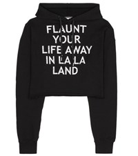 Each X Other Embellished Cotton Hoodie Black