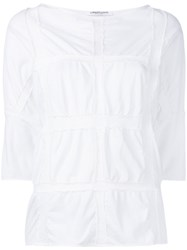 Lamberto Losani Checked Effect Blouse Women Cotton S White
