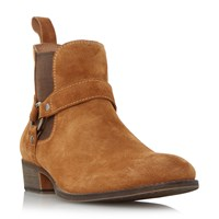 Dune Cowboy Western Ring Detail Boot Tan