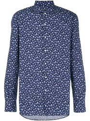 Orian All Over Patterned Shirt Blue