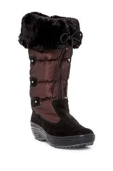 Pajar Mia Faux Fur Trimmed Boot Red