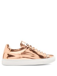 Jil Sander Low Top Leather Trainers Rose Gold