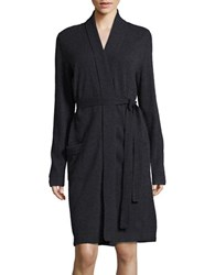 Lord And Taylor Cashmere Robe Grey