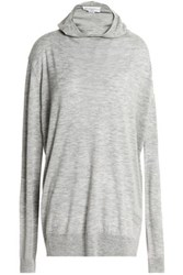 Amanda Wakeley Hooded Cashmere Sweater Gray