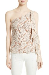 Tracy Reese Women's Lace One Shoulder Top