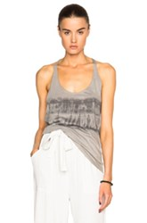 Raquel Allegra T Back Tank Top In Gray Ombre And Tie Dye