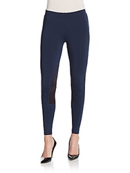 David Lerner Paneled Riding Leggings Navy Black