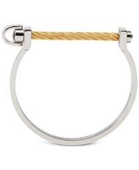 Charriol Two Tone Structural Bangle Bracelet In Stainless Steel And 14K Gold Plated Stainless Steel Pvd Yellow Gol