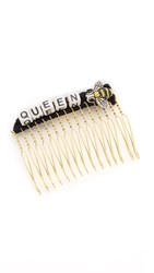 Venessa Arizaga Queen Bee Hair Comb Black Multi