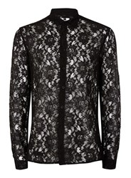 Topman Black Lace Casual Shirt