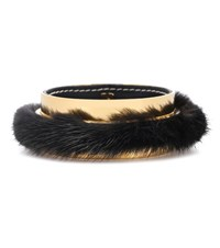 Marni Fur Trimmed Bangle Gold