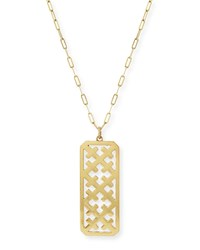 Large Crosses Dog Tag Gold Vermeil Necklace Katie Design Jewelry
