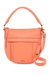 Fossil Molly Small Leather Hobo Orange