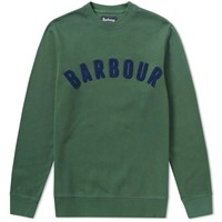 Barbour Prep Logo Crew Sweat Green