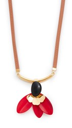 Marni Necklace With Horn Orange Red