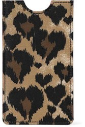 Red V Leopard Print Faille Phone Case Animal Print