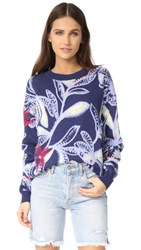 See By Chloe Printed Pullover Blue Diamond